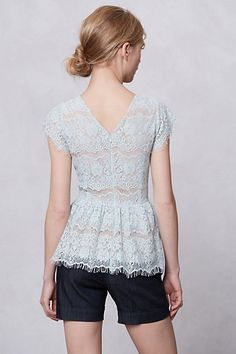 pretty lace peplum from #anthropologie