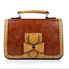Bolso de Hombro / Tote / Portafolios / Cross Body Bag-Baguette-PU-Marrón / Rojo-Unisex 4941978 2016 – €24.49