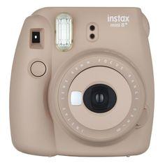Fujifilm instax mini 8+ Camera - Cocoa (Brown) OR in Black :) Fuji Instax Mini, Fujifilm Instax Mini 8, Instax Mini Film, Polaroid Camera Instax, Camera Photos, Camera Art, Retro Camera, Sony Camera, Instant Film Camera