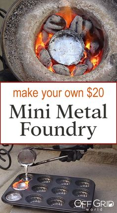 Melting Aluminum Cans With 20 Homemade Mini Metal Crucible Melting Aluminum Cans With 20 Homemade Mini Metal Crucible Off Grid World Aluminum Can Crafts, Aluminum Cans, Metal Crafts, Aluminum Metal, Off Grid, Diy Generator, Homemade Generator, 1001 Pallets, Metal Projects