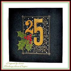 Karen really took my breath away with this bright and festive card with a black cardbase! I just love the look!!!