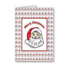 Santa Christmas Card Card ($3.50) found on Polyvore
