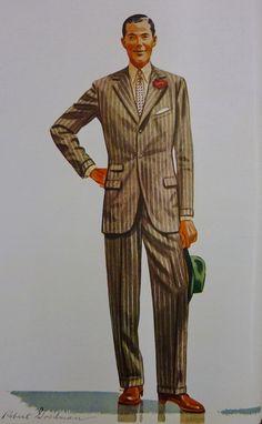 Paddock Suit - by Robert Goodman - Apparel Arts 1939 — Gentleman's Gazette