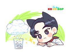 (310) Twitter Exo Kokobop, Chanyeol, Exo Cartoon, Exo Stickers, Dog Comics, Exo Fan Art, Xiuchen, Kpop Drawings, Girl And Dog