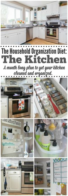 Everything you need to get your kitchen cleaned and organized! Free printables included for this month long plan. // cleanandscentsible.com