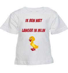 Weer zo een leuk baby shirt. Pakkende tekst