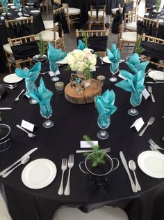 June tented Wedding reception at Stone Willow Inn St. - black and… Teal And Grey Wedding, Grey Wedding Decor, Wedding Colors, Rustic Wedding, Wedding Flowers, Wedding Turquoise, Wedding Coral, Wood Centerpieces, Wedding Centerpieces