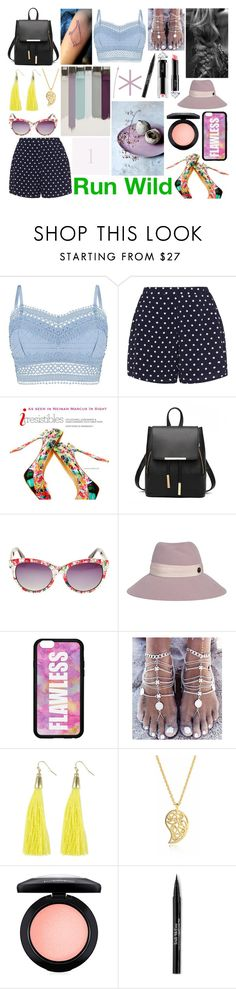 """"" by anette-rivera ❤ liked on Polyvore featuring Lipsy, Zizzi, Betsey Johnson, Maison Michel, Forever 21, Sonal Bhaskaran, La Petite Robe di Chiara Boni, MAC Cosmetics and Trish McEvoy"