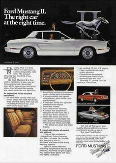 """Ford Mustang Ii """"Right Car at the Right Time"""" (1974)"""