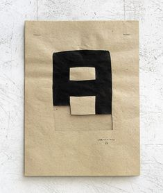 Eduardo Chillida (1924-2002) Gravitación (untitled/number not known), 1993. Cut paper, black ink and cord. 38cm H x 28.2cm W.