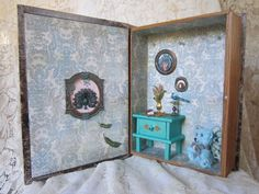 The Girl Who Talks to Peacocks Room Box for by PinkyPalaceMosaics