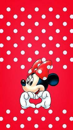 MINNIE MOUSE IPHONE WALLPAPER BACKGROUND IPHONE