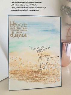 Stampin'Up! Beautiful You Dancing girl Watercolour