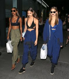 Angels Jasmine, Taylor and my bae Josephine for DKNY