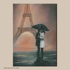 Neutral Figurative Paris City Printed Canvas Wall Art