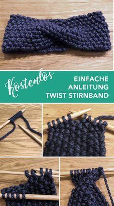 Einfache und kostenlose Anleitung für ein Twist Stirnband. #strickanleitung #stirnband #knittingtutorial #headband #knitting #stricken #selfmade #handmadewithlove #blog #strickblog #wollfieber #lasstunsstrickenmädels