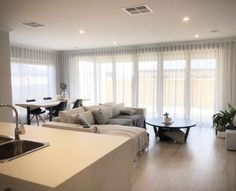 Roller Blinds offer a sleek look to your window, acting to filter light or shade your room completely. Blinds For Large Windows, Blinds For Windows Living Rooms, Bay Windows, Sheer Blinds, Curtains With Blinds, Sheer Curtains Bedroom, Curtains Living, Inside A House, Roller Blinds