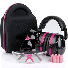 Tradesmart Pink Ear Muffs, Earplugs, Gun Safety Glasses & Protective Case - UV400 . Anti Fog & Anti Scratch with Microfiber pouch | Gun Range Ear Protection & Eye Protection for Shooting   https://huntinggearsuperstore.com/product/tradesmart-pink-ear-muffs-earplugs-gun-safety-glasses-protective-case-uv400-anti-fog-anti-scratch-with-microfiber-pouch-gun-range-ear-protection-eye-protection-for-shooting/