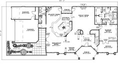 Private patio & garden area - Plan 055S-0105 | houseplansandmore.com