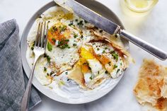 Julia Turshen's Olive Oil-Fried Eggs with Yogurt & Lemon recipe on Food52