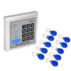 Koolertron RFID Proximity Entry Door Lock Keypad Access Control System with 10 X RFID key fobs by koolertron. $16.99. It is an security and effective RFID access controller, and perfect for Homes  and Offices.  Features: High quality and high security. Sensitively and response quickly. Support 500 standard users. Support card password, card plus password & password plus card. Can add card number and delete card number as your requirement. With 10 pcs of Key fobs for...