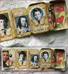 As we enter the month of March, I always think of bulb flowers and blooming things. I can't help but find inspiration from the poems written by Hilda Conkling. I created this altered poetry tin usi. Altered Tins, Altered Art, Matchbox Art, Tin Art, Assemblage Art, Artist Trading Cards, Mini Books, Medium Art, Mixed Media Art