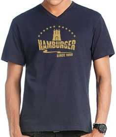 INDIVIDUELLES HAMBURGER SINCE 1968 VINTAGE T-SHIRT JAHRGANG IST FREI WÄHLBAR!