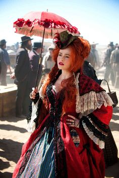 The Lone Ranger Movie Images. New images from The Lone Ranger starring Johnny Depp, Armie Hammer, Helena Bonham Carter, and Tom Wilkinson. Helena Bonham Carter, Helen Bonham, Helena Carter, Tim Burton, Mode Steampunk, Steampunk Costume, Steampunk Movies, Steam Punk, Marla Singer