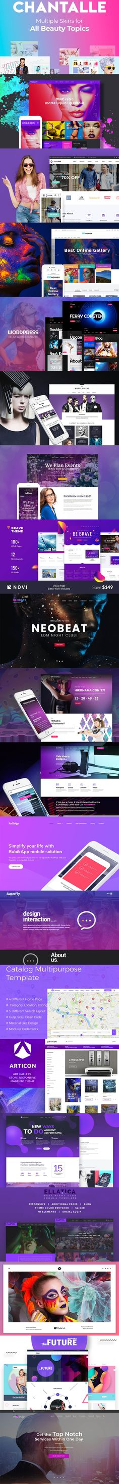 20 Awesome Purple #Templates #wordpress