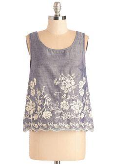 Boundless Beauty Top | Mod Retro Vintage Short Sleeve Shirts | ModCloth.com