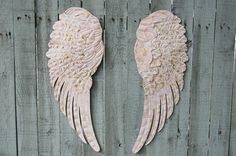 #walldecor #angelwings  Angel Wings, Shabby Chic, Pink, Gold, Large, Metal, Upcycled, Hand Painted, Shabby Chic Decor, Boho Chic, Wall Decor, Nursery Decor by TheVintageArtistry on Etsy https://www.etsy.com/listing/240122215/angel-wings-shabby-chic-pink-gold-large