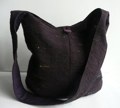 Silk sakiori (rag weave) hobo bag, handwoven by Chieko Wales / sold / Etsy shop WhatsForPudding http://www.etsy.com/shop/WhatsForPudding)
