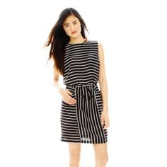 Joe Fresh™ Sleeveless Striped Shift Dress   found at @JCPenney