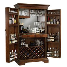 sonoma home bar furniture cabinet for wine and spirits constructed with superb craftsmanship this armoire styled bar cabinet can store 22 bottles of wine