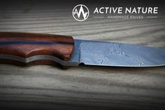 Active Nature - Handmade Knives Model: TS III AN made from Damasteel Damascus and Makassar handles Makassar, Handmade Knives, Damascus, Nature, Model, Knifes, Collectible Knives, Damask