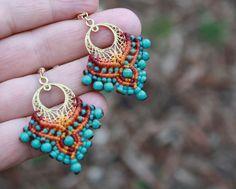 Items similar to Boho Earrings - Boho Turquoise Jewellery - Hippie Earrings - Tribal Earrings - Bohemian Earrings - Turquoise Earrings on Etsy Indian Earrings, Tribal Earrings, Turquoise Earrings, Beaded Earrings, Crochet Earrings, Tribal Jewelry, Turquoise Beads, Hoop Earrings, Western Jewelry