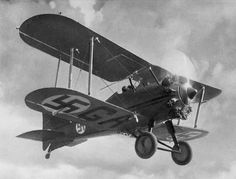 Gloster Gamecock fighter in service with the Finnish Air Force (1930′s)