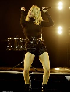 Fresh faced: She spent the night before partying in Newcastle with Scotty T. But Ellie Goulding showed no signs of a sore head or fatigue as she took to the stage at the SSE Hydro in Glasgow on Friday