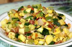 Southern Style Skillet Ratatouille from Deep South Dish blog - a simple stew of…