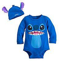 Stitch Disney Cuddly Bodysuit Set for Baby - Personalizable #babystuffdisney