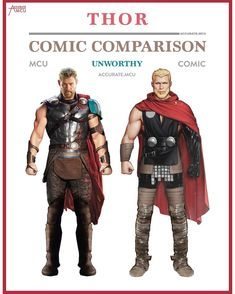 """1,834 Likes, 43 Comments - • Accurate.MCU • mcu fanpage (@accurate.mcu) on Instagram: """"• UNWORTHY THOR - COMIC COMPARISON • So we got the images of Thor Ragnarok that showed Thor with…"""""""