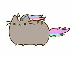Si conbinas un gato y un unicorño s forma esto