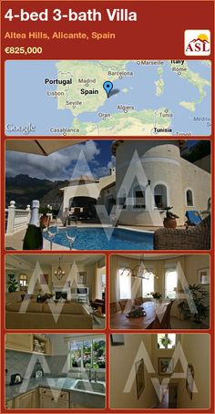 4-bed 3-bath Villa in Altea Hills, Alicante, Spain ►€825,000 #PropertyForSaleInSpain