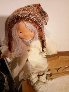 Waldorf doll, Steiner doll by MeseHely on Etsy I Am Happy, Doll Clothes, Take That, Crochet Hats, Thankful, Autumn, Dolls, This Or That Questions, Inspired