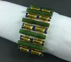 Vintage Swoboda Bracelet Jade Lapis Carved Bamboo Asian Design Links in Jewelry & Watches, Vintage & Antique Jewelry, Costume, Retro, Vintage 1930s-1980s, Bracelets | eBay