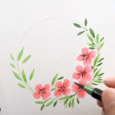 Brush Pen Art, Watercolor Brush Pen, Watercolor Cards, Watercolor Paintings, Watercolor Effects, Flower Paintings, Cool Art Drawings, Art Drawings Sketches, Flower Drawings