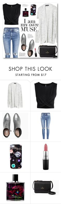 """I am my own muse."" by katrinaalice ❤ liked on Polyvore featuring MINKPINK, H&M, Max&Co., Nikki Strange, MAC Cosmetics, Sephora Collection, Kate Spade, NYFW, Fall and sweaterweather"