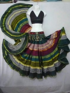 Like the full circle skirt and the belt