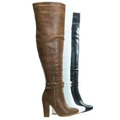 Long Boots With Heels, Lace Up Wedge Boots, Lace Up Wedges, Brown Heels, Brown Shoe, Dress With Boots, Over The Knee Boots, Thigh High Boots, Knee High Flat Boots