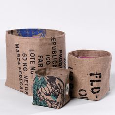 POT  ou CACHE-POT sac de café recyclé